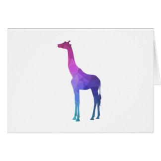 Geometric Giraffe with Vibrant Colors Gift Idea Card