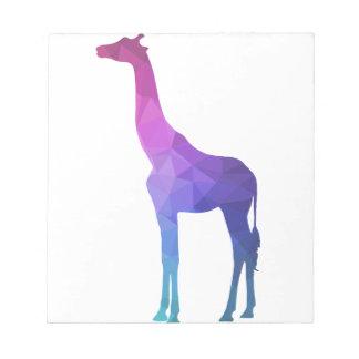 Geometric Giraffe with Vibrant Colors Gift Idea Notepad
