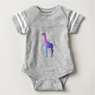 Geometric Giraffe with Vibrant Colours Gift Idea Baby Bodysuit