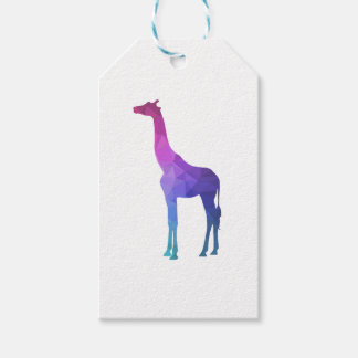 Geometric Giraffe with Vibrant Colours Gift Idea Pack Of Gift Tags
