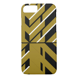 Geometric Gold and Black iPhone 7 Case