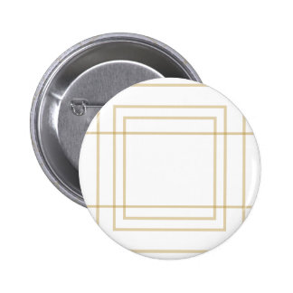 Geometric Gold Concentric Squares 2 Inch Round Button