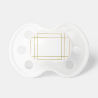 Geometric Gold Concentric Squares Baby Pacifiers