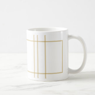 Geometric Gold Concentric Squares Coffee Mug