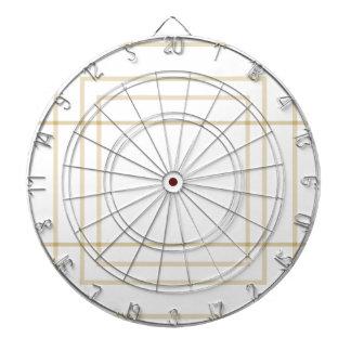 Geometric Gold Concentric Squares Dartboard