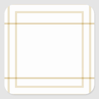 Geometric Gold Concentric Squares Square Sticker