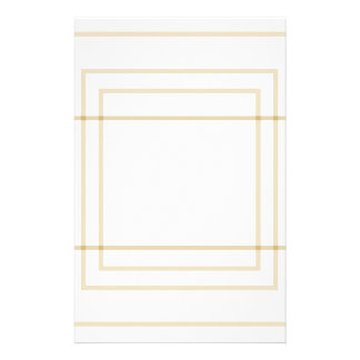 Geometric Gold Concentric Squares Stationery
