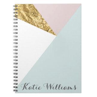 Geometric Gold Foil Notebook