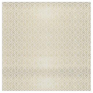 Geometric Gold & White Patterned Fabric