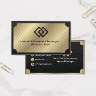 Geometric Golden Business Card