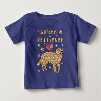 Geometric Golden Retriever Baby T-Shirt