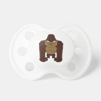 geometric gorilla.cartoon gorilla baby pacifier