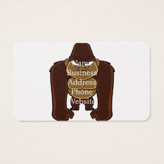 geometric gorilla.cartoon gorilla business card