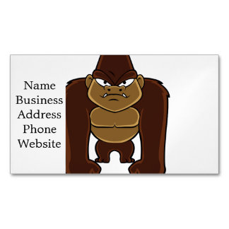 geometric gorilla.cartoon gorilla magnetic business card