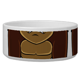 geometric gorilla.cartoon gorilla pet bowls