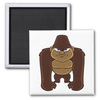 geometric gorilla.cartoon gorilla square magnet