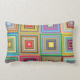 Geometric Granny Squares Lumbar Pillow