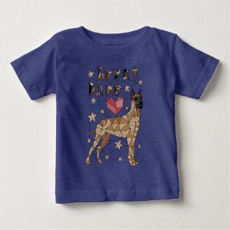 Geometric Great Dane Baby T-Shirt