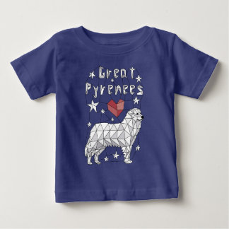 Geometric Great Pyrenees Baby T-Shirt