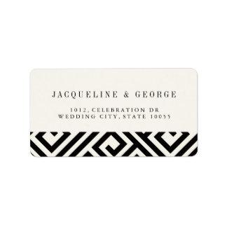 Geometric Greek Key Classic Wedding Address Labels