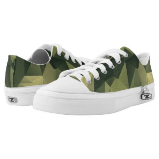 Geometric Green Camouflage. Camo your Low-Top Sneakers