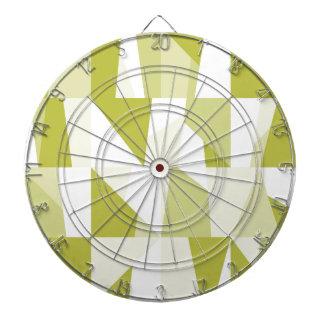 Geometric Green Pattern Dartboard