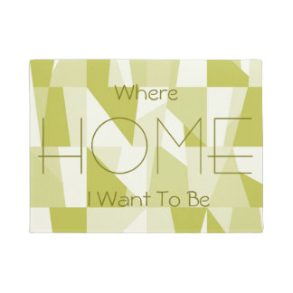 Geometric Green Pattern Doormat