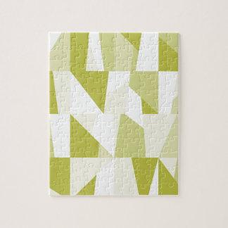 Geometric Green Pattern Jigsaw Puzzle