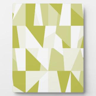 Geometric Green Pattern Plaque