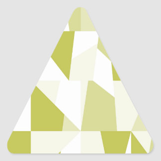 Geometric Green Pattern Triangle Sticker