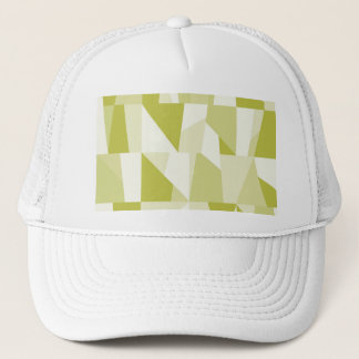 Geometric Green Pattern Trucker Hat