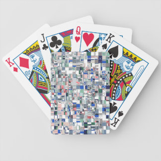 Geometric Grid of Colors Bicycle Playing Cards