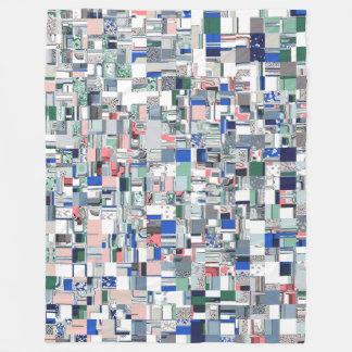 Geometric Grid of Colors Fleece Blanket