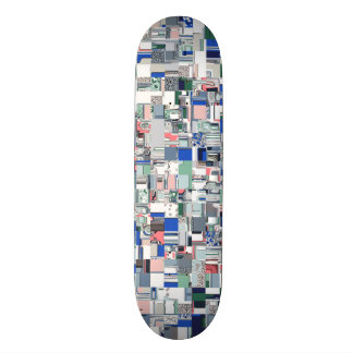 Geometric Grid of Colors Skateboard Deck