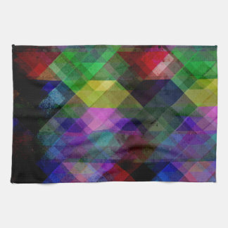 Geometric Grunge Abstract Kitchen Towel