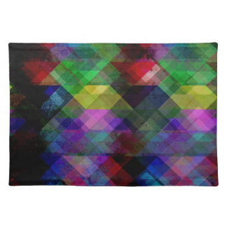 Geometric Grunge Abstract Placemat