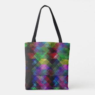 Geometric Grunge Abstract Tote Bag