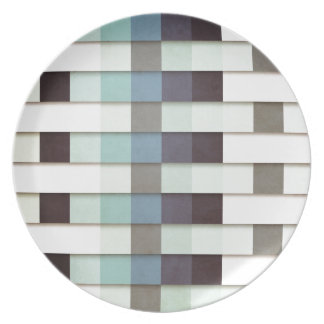 Geometric Grunge Graphic Party Plates
