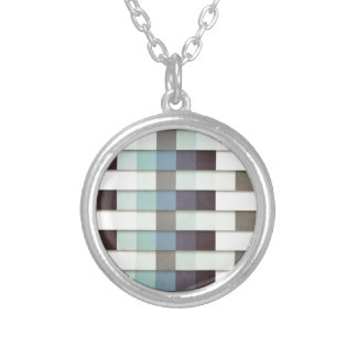 Geometric Grunge Graphic Silver Plated Necklace
