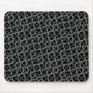 Geometric Grunge Pattern Mouse Pad