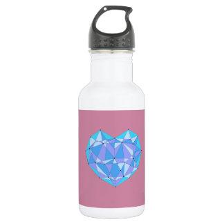 Geometric Heart 532 Ml Water Bottle
