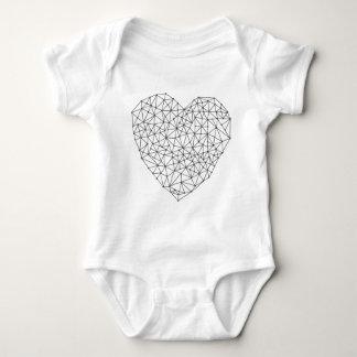 Geometric heart baby bodysuit
