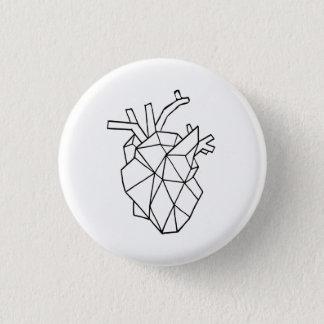 Geometric heart Button