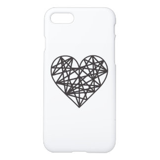Geometric heart iPhone 7 case