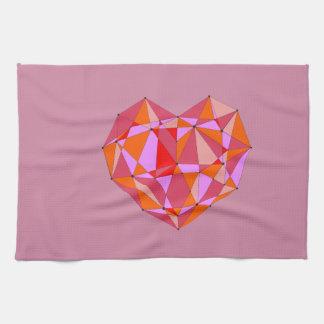 Geometric Heart Kitchen Towels