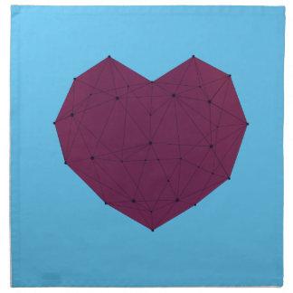 Geometric Heart Napkin