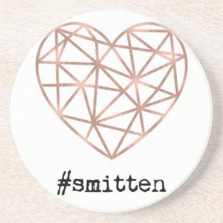Geometric Heart Smitten Coaster