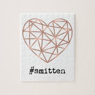 Geometric Heart Smitten Jigsaw Puzzle