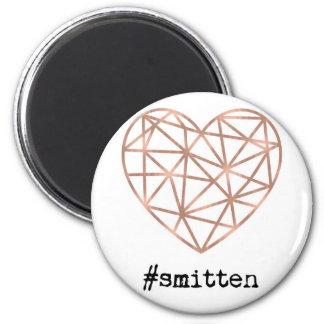 Geometric Heart Smitten Magnet