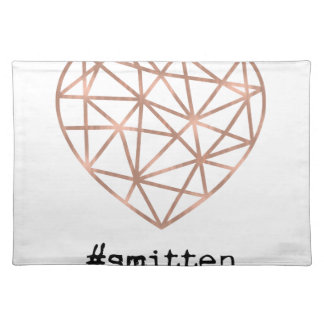 Geometric Heart Smitten Placemat